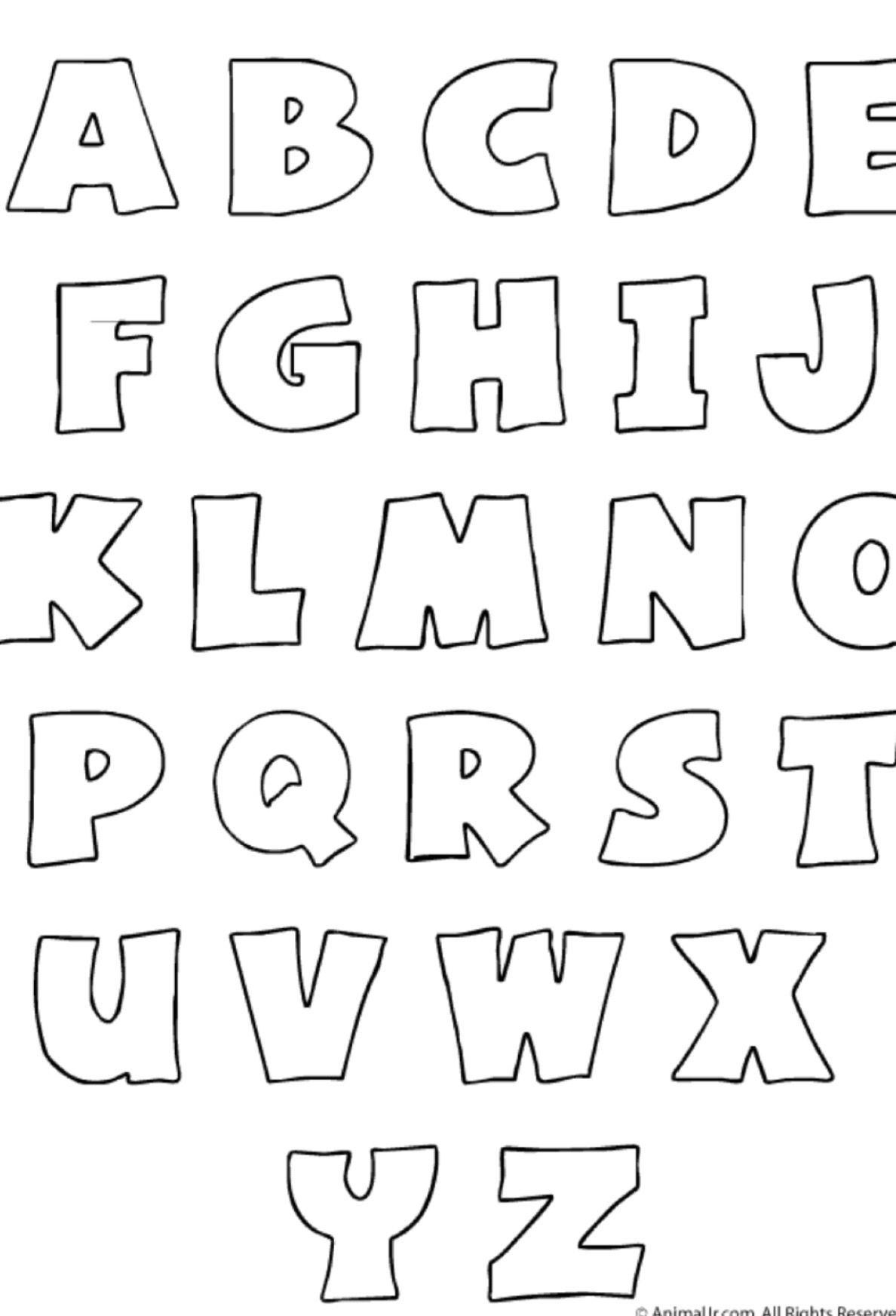 Plantilla para imprimir el abecedario patrones y moldes - Plantillas de letras para pintar en madera ...
