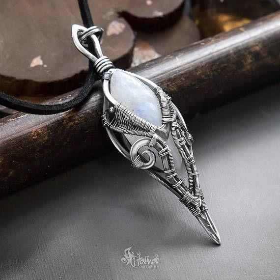 Moonstone pendant fantasy pendant fantasy moonstone silver moonstone pendant fantasy pendant fantasy moonstone aloadofball Images