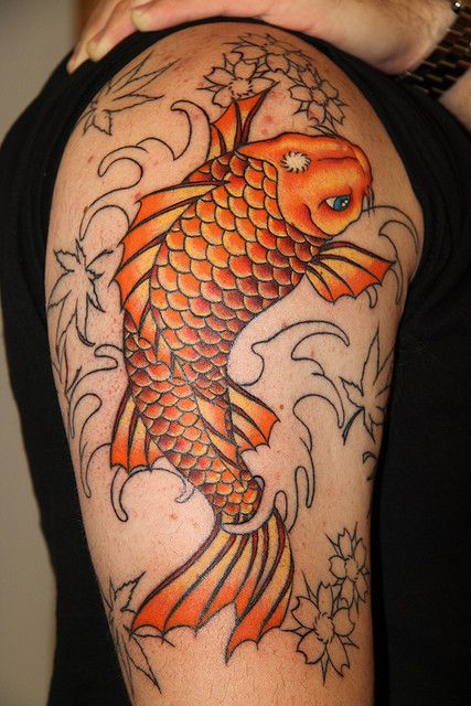 Img 5252 koi tattoo and tatting for Orange koi fish meaning