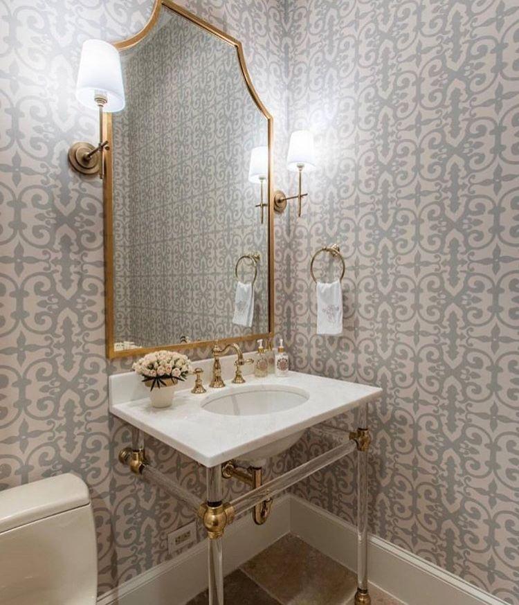 Lucite Powder Room Vanity Metal Sink Base Br Bryant