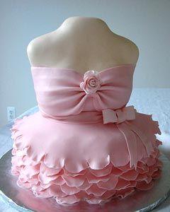 Casamento Sem Estresse: Bolos Artísticos Com Vestidos e Acessórios - Dress Cake