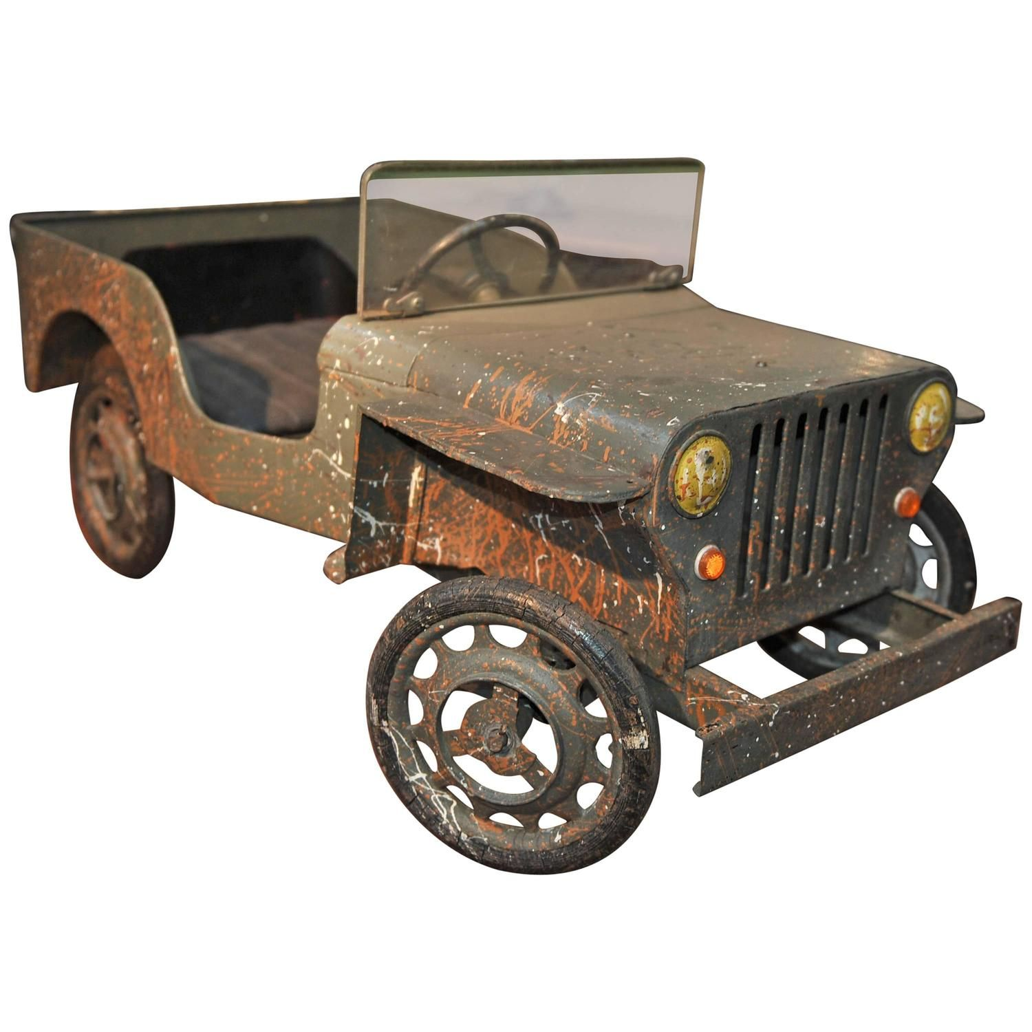 Jeep toys images  Jeep Iron Pedal Car Manufactured in France circa   Pedal car