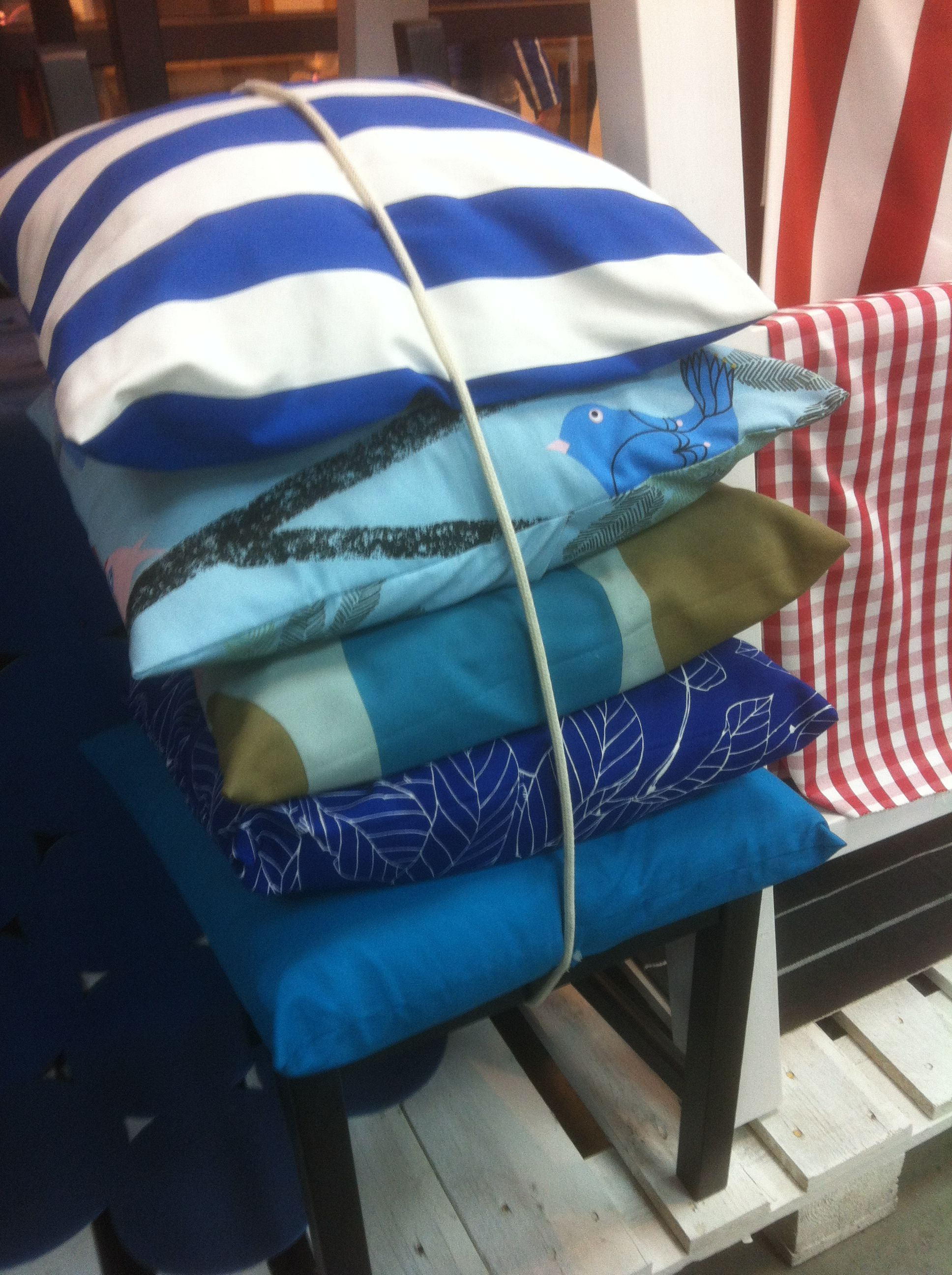 Ikea cushion bundle love the way theyuve mixed different blues