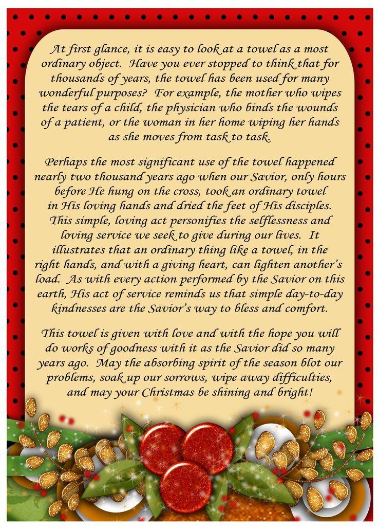 Weihnachtshandtuch Geschenk ~ Fügen Sie diesen bedruckbaren Tag zu ...