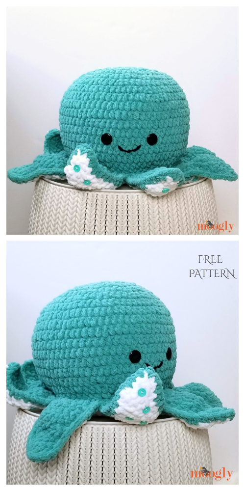 Modèles de crochet gratuits pour oreiller de poulpe géant Amigurumi – DIY Magazine   – Crochet