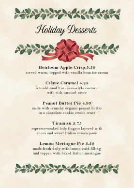 Holiday Menu Template from i.pinimg.com