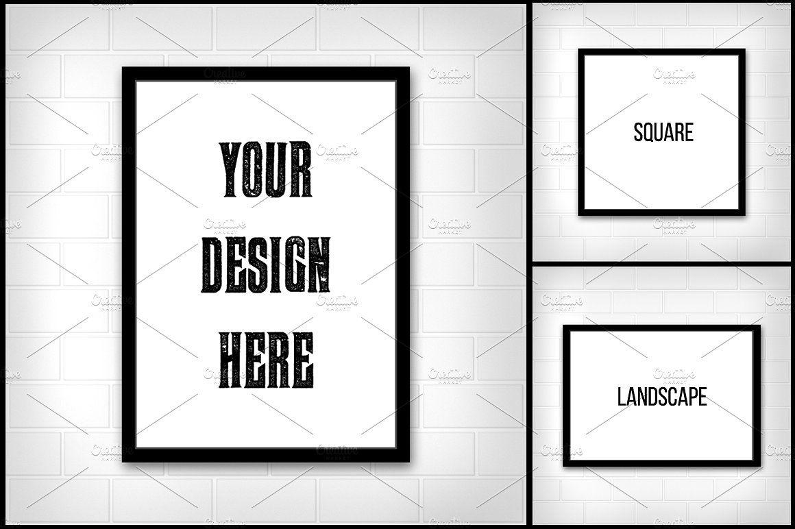 Minimal Poster Mockup #paper#Portrait#Poster#size | design