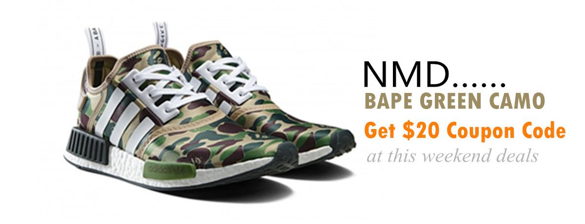 Martha sneakers Weekend deals for UA NMD BAPE GREEN CAMO 925abda28
