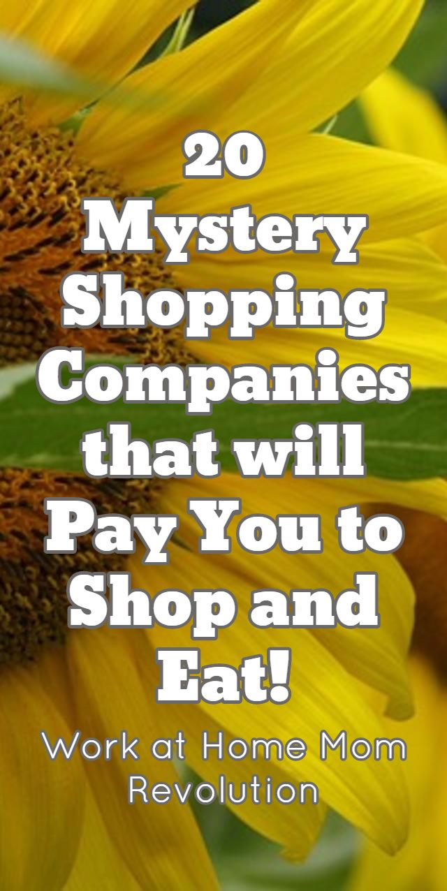 Mystery shopping companies that pay weekly
