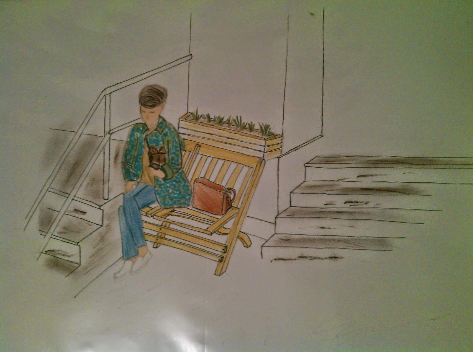 Desenho com caneta promarker, lápis de cor aquarelavel, giz de cera, pastel seco e caneta magic color no sulfite