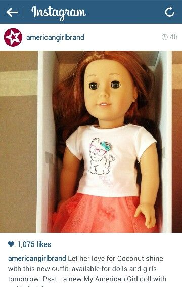 New MyAG #61 American Girl Doll JLY Via AG's Instagram