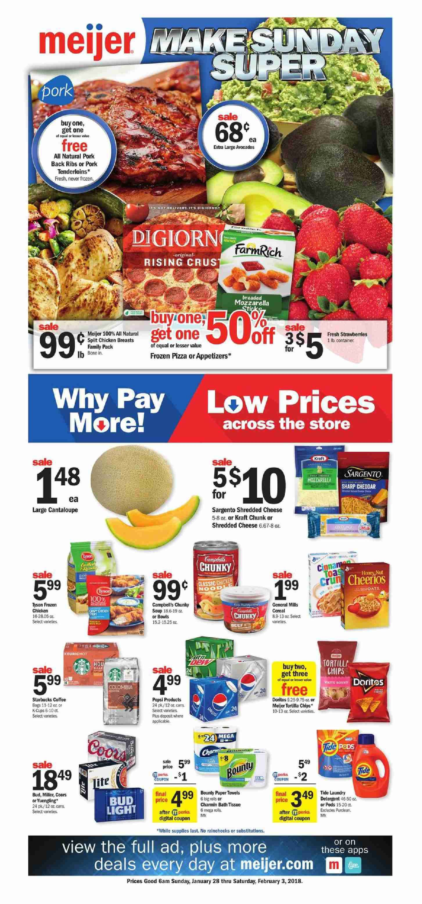 Browsing Preview Meijer Weekly ad Flyer this week January 28