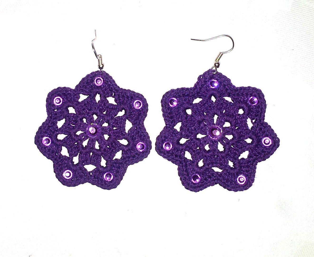 Diy Tutorial Orecchini Uncinetto Medea How To Crochet Earrings Eng