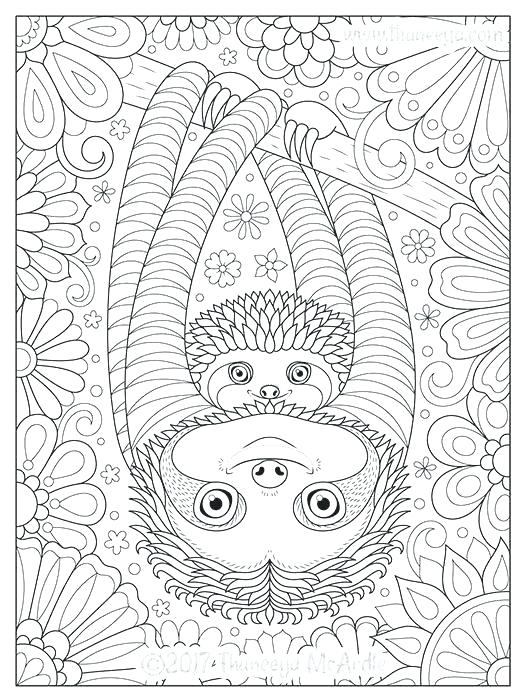 Sloth Coloring Page Free Coloring Page Template Printing Printable Sloth Coloring Pages For Mandala Coloring Pages Cute Coloring Pages Pattern Coloring Pages