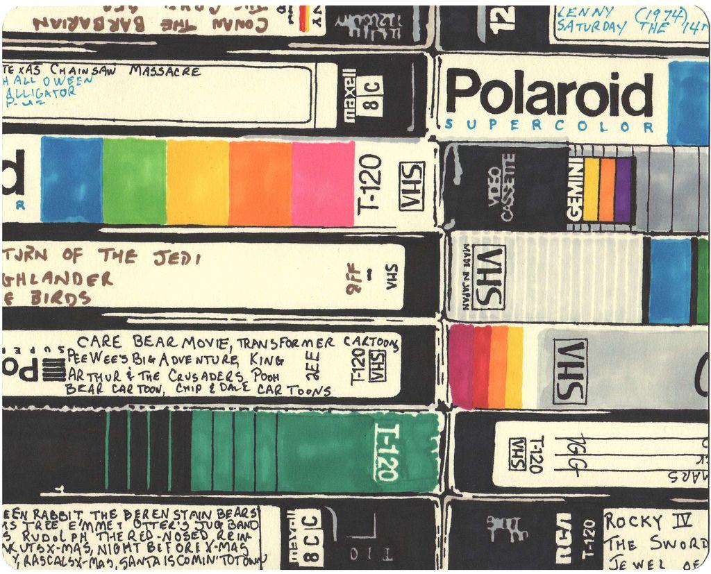 Retro Movie Sharpie Drawings 7 Jpg 1024 827 My Childhood Memories Memories Childhood Memories