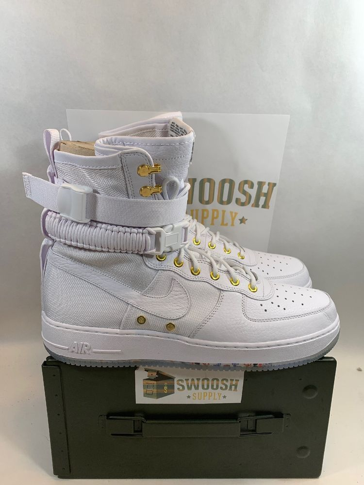 Nike SF AF1 LNY QS Chinese Lunar New Year White Gold AO9385
