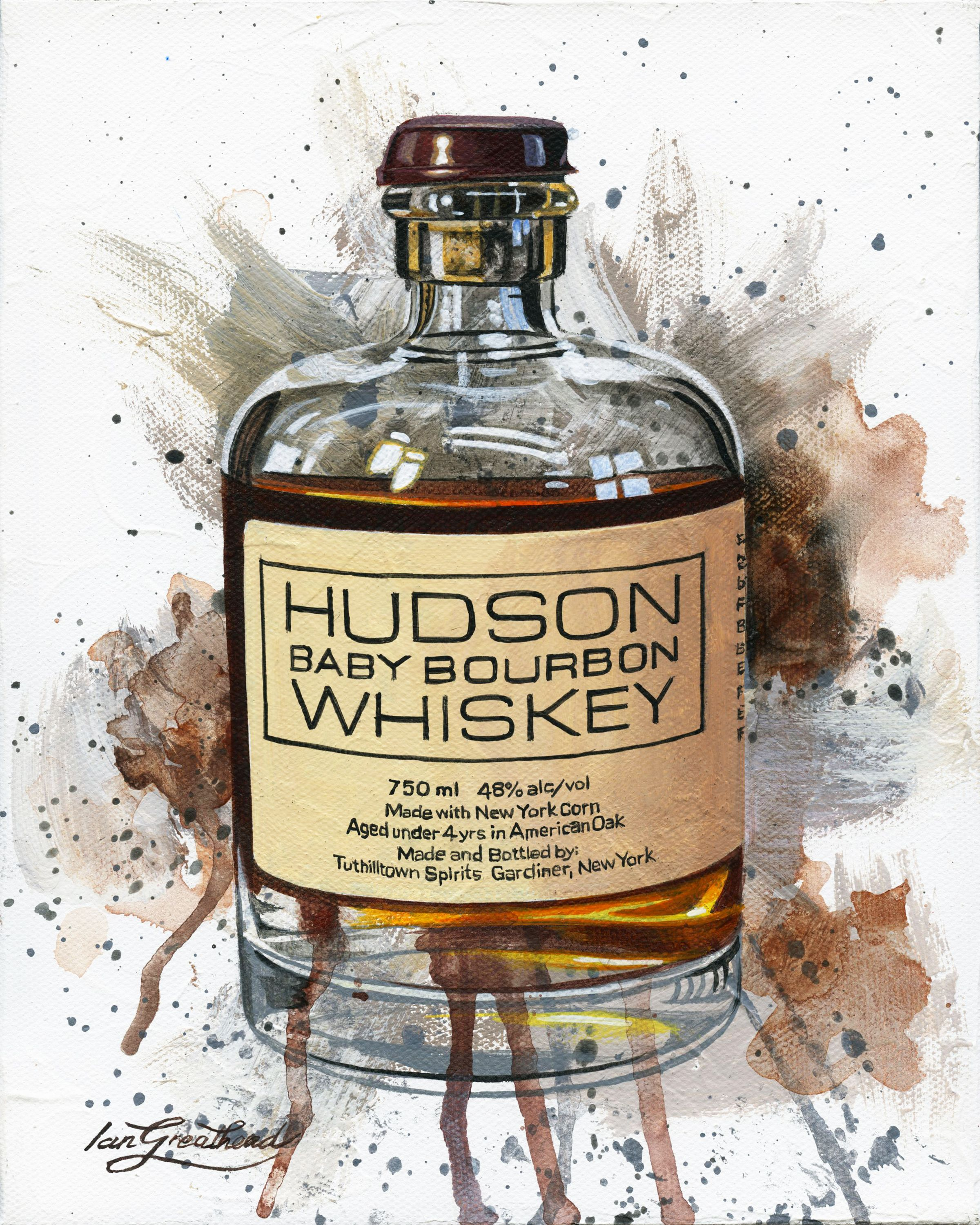 Hudson Baby Bourbon Whiskey By Ian Greathead 2020 Painting Acrylic On Canvas Singulart In 2020 Best Bourbons Sweet Bourbon Hudson Baby Bourbon