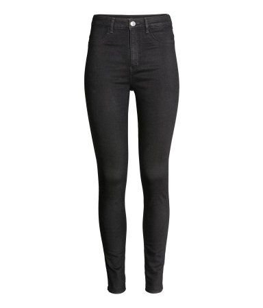 9ae664cdc67d7 Super Skinny High Jeans | Black denim | WOMEN | H&M US | capsule ...