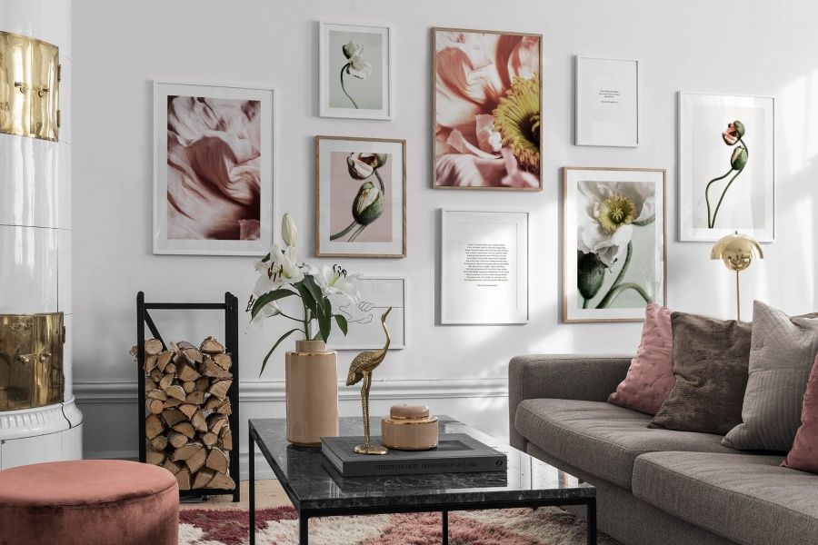 Small Simple Steps For A Greener Home Gallery Wall Country Wall Art Small Gallery Wall Small prints for living room