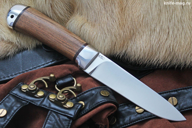 Финка-3 (рукоять орех, тыльник и гарда алюминий)   Ножи