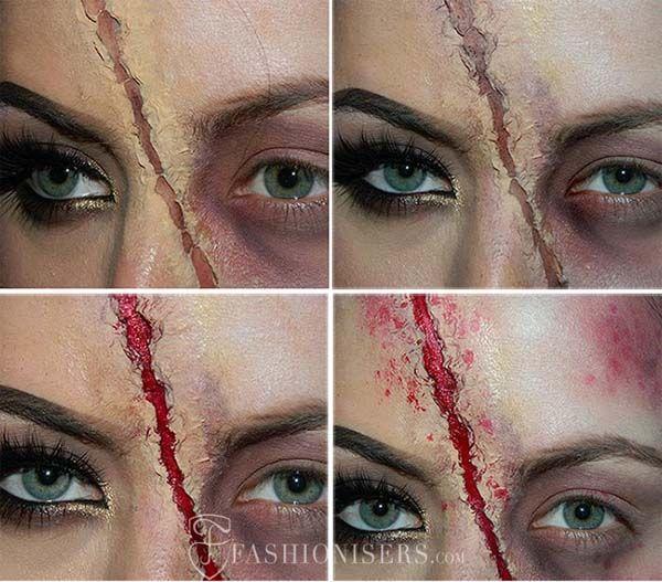 maquillaje paso a paso de zombie