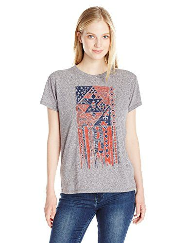 Listed Price: $24.95 Sale Price: $10.01 Boyfriend tee with front tribal flag graphic. Classically cut the boyfriend tee delivers a…