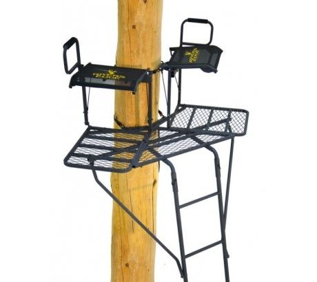 River S Edge Re636 Bowman 19 Foot V Shaped 2 Man Double Hunting Ladder Treestand With Images Ladder Stands Best Ladder Ladder Tree Stands