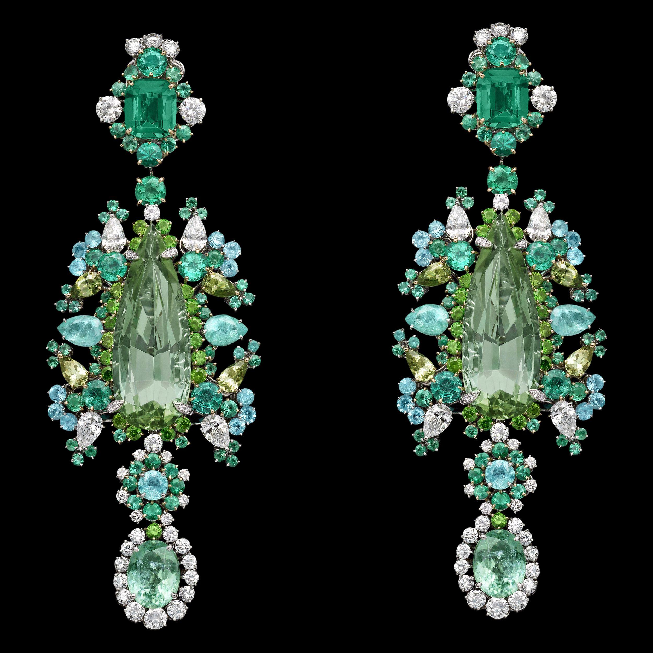 Dior Jewellery – Dear Dior: 'Organza Brodé Paraiba' earrings. Discover more on www.dior.com