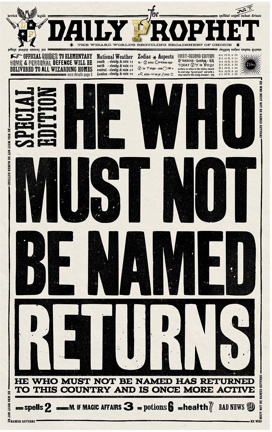 It's just a picture of Sassy Harry Potter Wanted Poster Printable