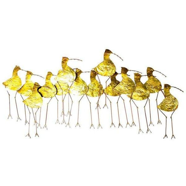 Curtis Jere Gold Metal Sandpiper Wall Art (25535 TWD) ❤ liked on ...