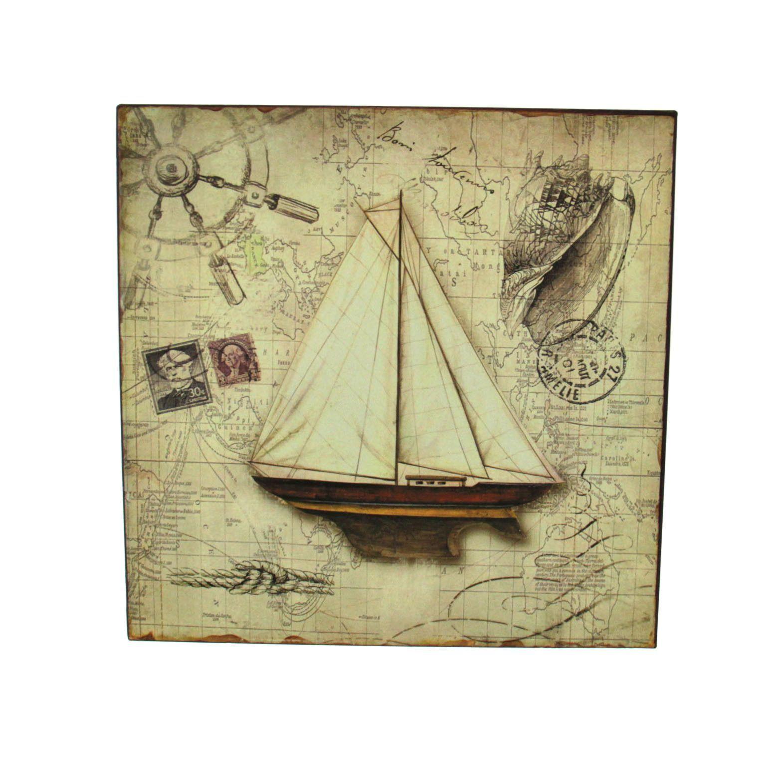 Sailboat Wall Plaque | Ship wheel, Walls and Wall décor