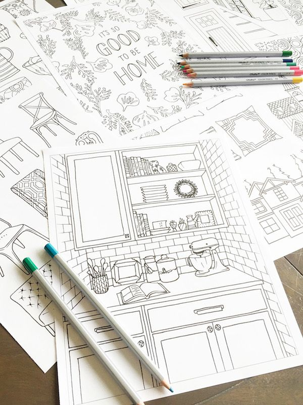 An Adult Coloring Book For Home Decor Lovers The Inspired