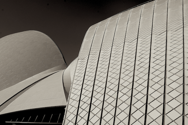 ceramic sails on the Tasmanian Sea - Sydney Opera House