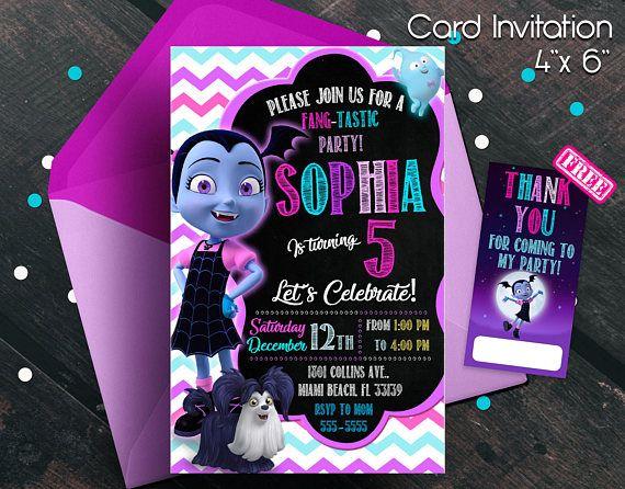 Marvelous Vampirina Invitation, Vampirina Birthday Party, Vampirina Birthday  Invitation, Free Thank You Cards,