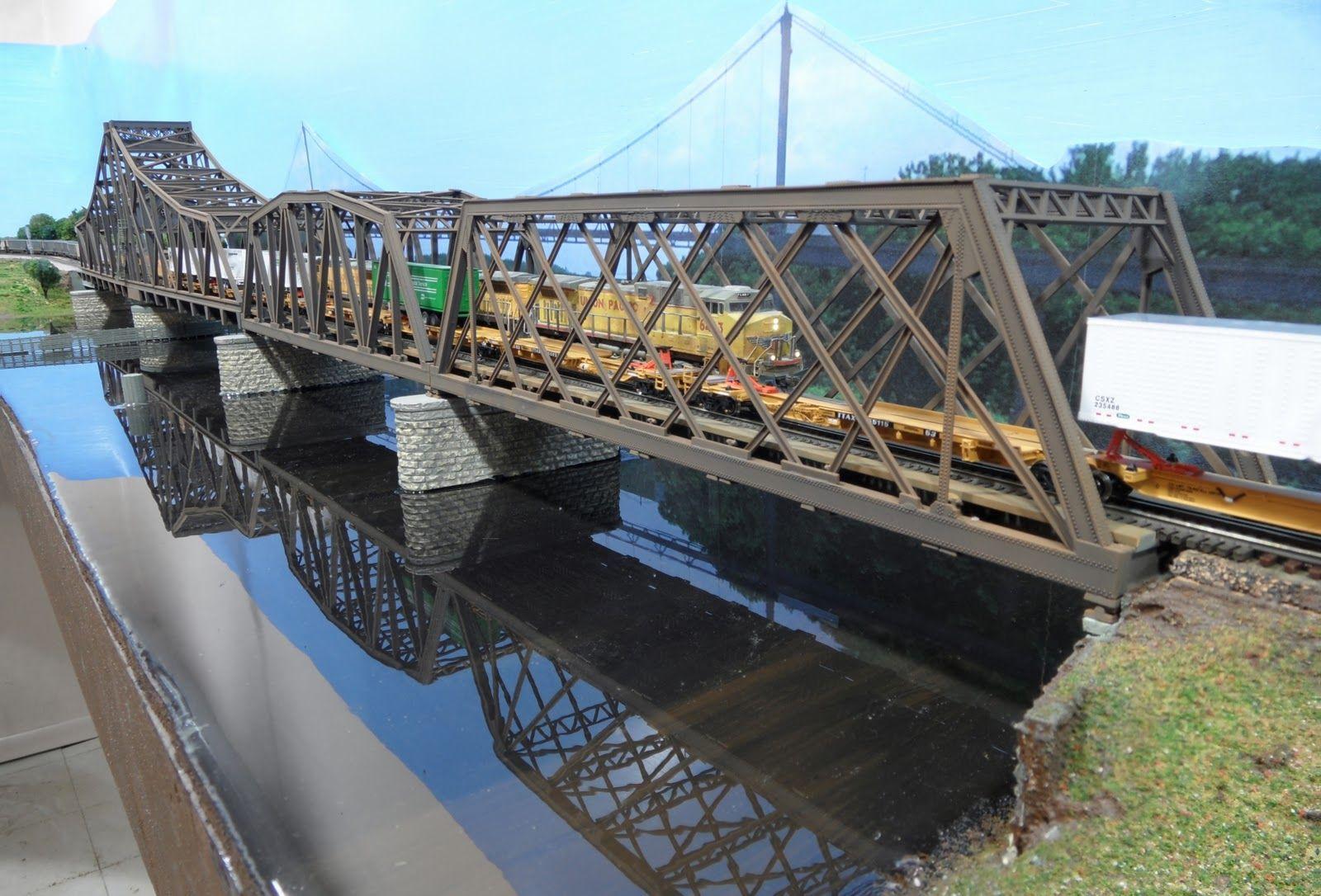 Murray River Bridge HO Scale Model Railway - YouTube