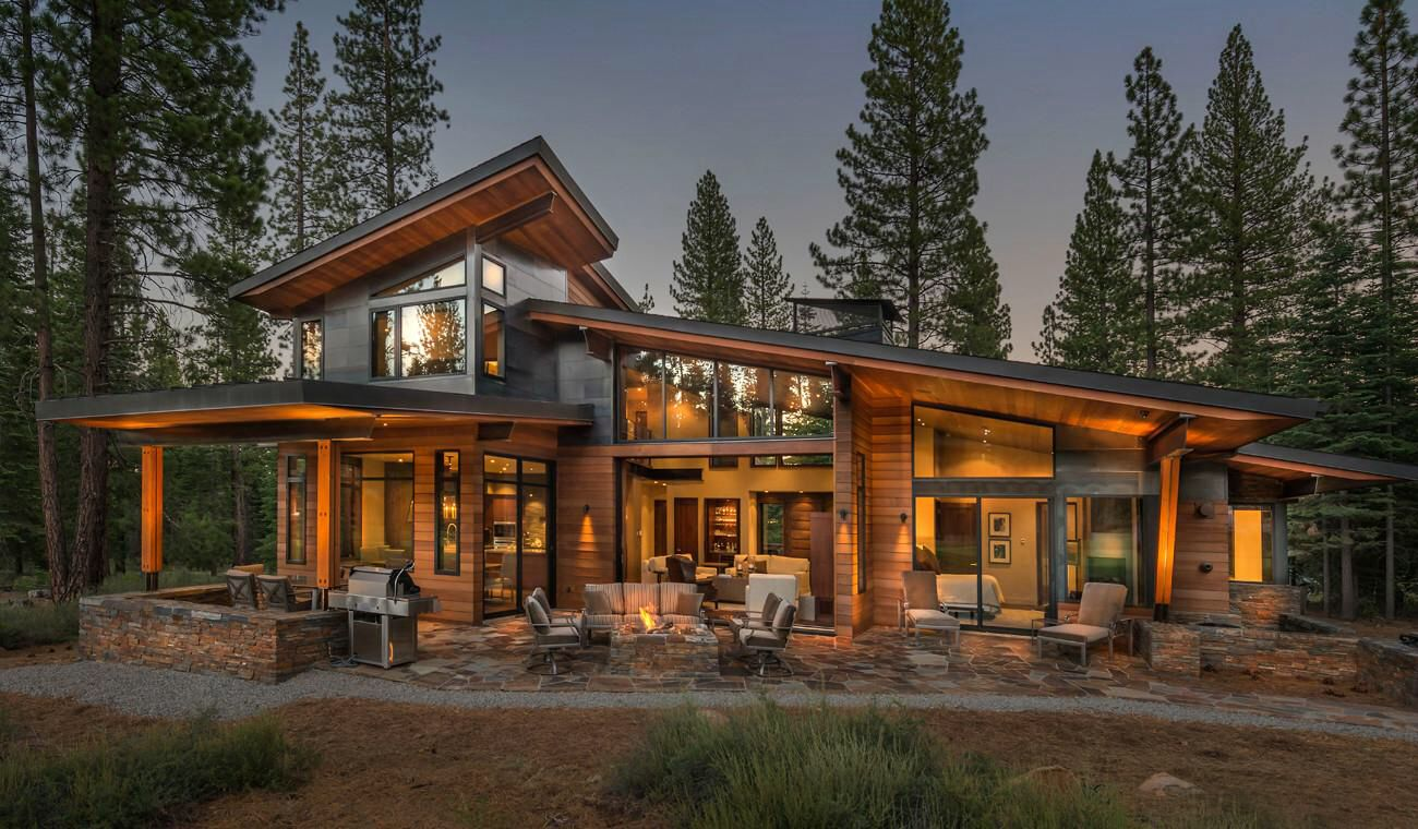 Facade Ii Modern House Plans Modern Mountain Home Modern House Design