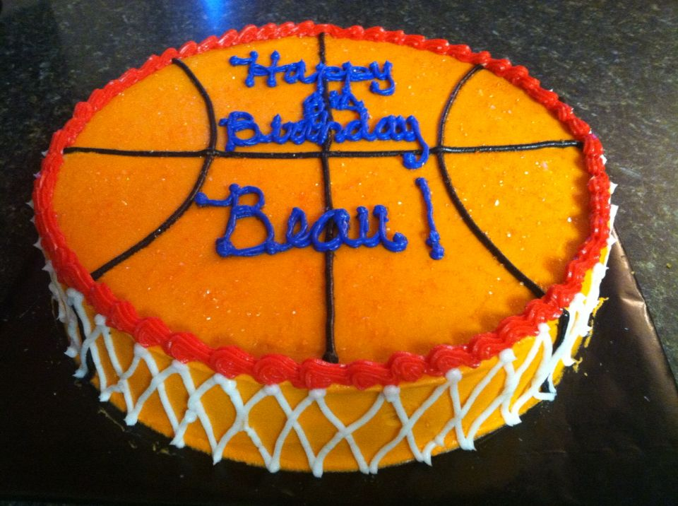 Birthday Cake For Basketball ~ Basketball birthday cake nelly may cakes cookies pinterest