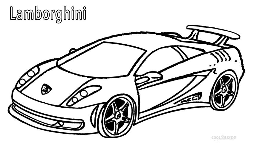 Lamborghini Coloring Pages With Images Cars Coloring Pages