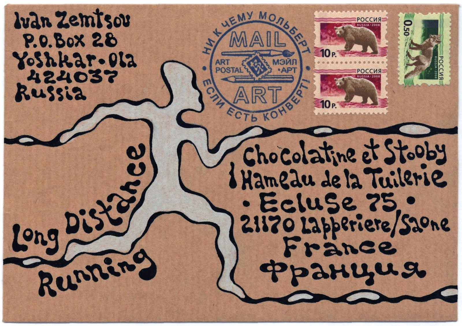 Long Distance Running Mail Art Project: January 2011