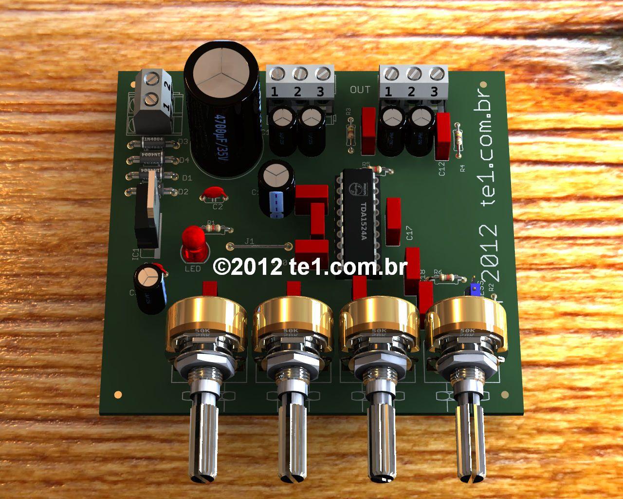 Pre Amplificador Estereo Tda1524a Bass Treble Circuito De Pr Tonal Lml3600 Variable Gain Amplifier Circuit Amplifiercircuit Estreo Com Ci Ajuste Graves Agudos
