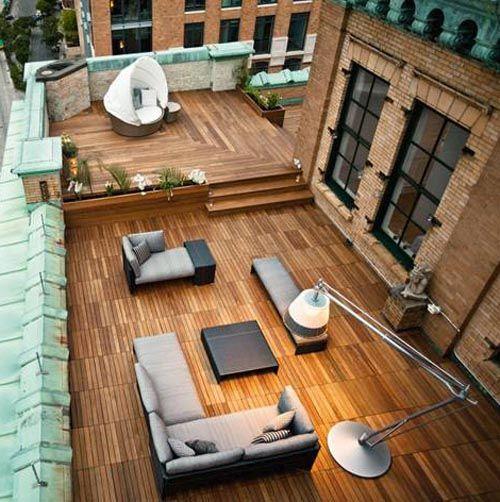 Minimalismo Terrazas Modernas En Edificios Antiguos