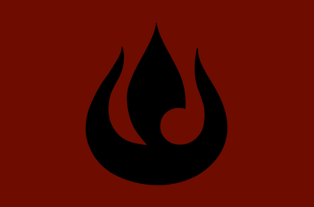 Fire Nation Flag By The Artist 64 On Deviantart Fire Nation Fire Nation Symbol Avatar Tattoo