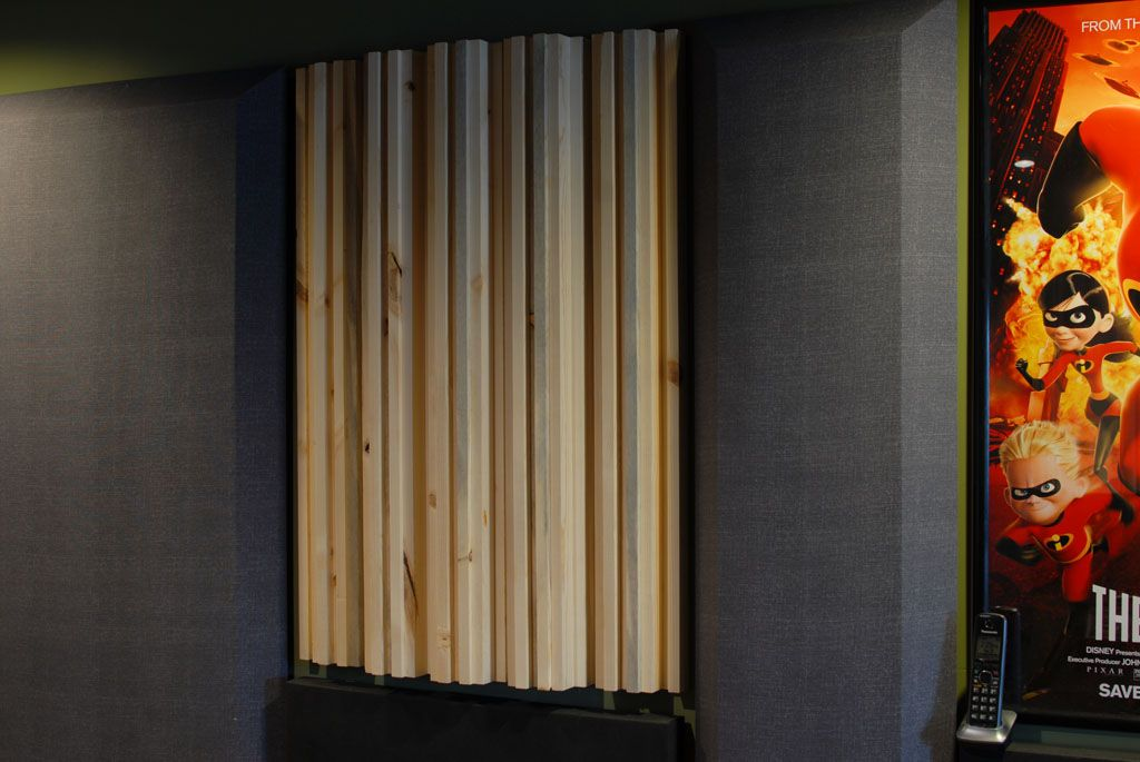A Super Easy Super Cheap Diy Wooden Decent Looking Sound Diffuser Design Acoustic Panels Audio Room Acoustic Diffuser