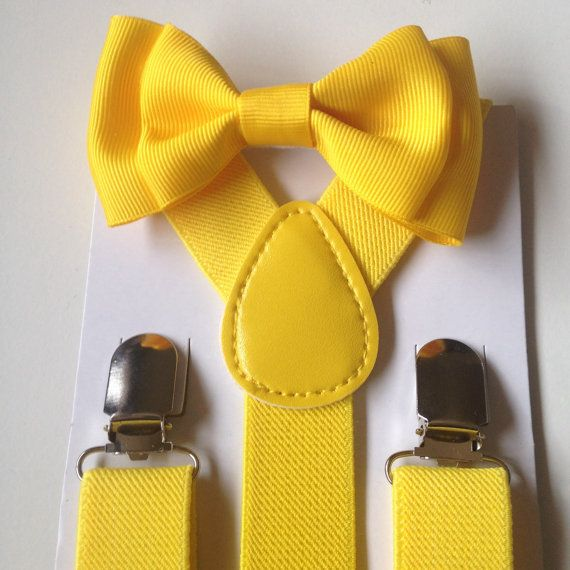 Yellow Suspender Amp Bowtie Set Canary Baby Boy Bowtie And