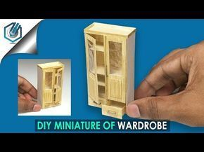 (4) DIY miniature of Wardrobe tutorial (made with Watercolor paper!) - YouTube #dollhouseminiaturetutorials