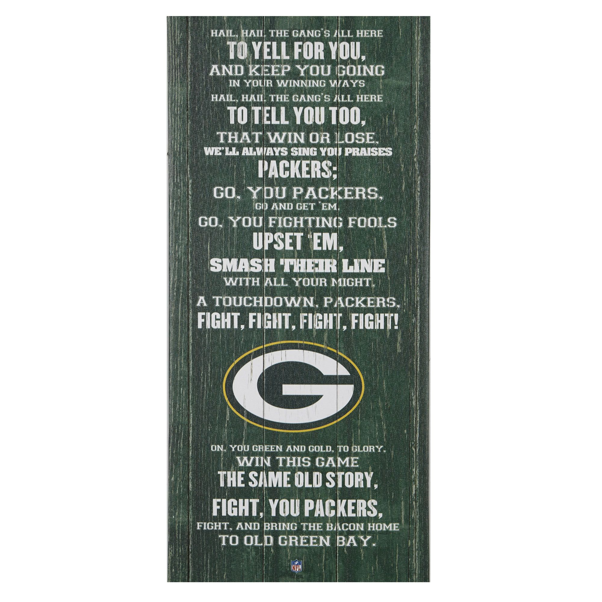 Green bay packers fight song wall decor 26 x 12 gordmans green bay packers fight song wall decor 26 x 12 gordmans amipublicfo Image collections