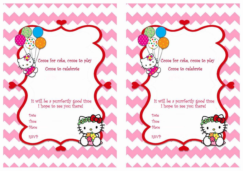 tv cartoons invitations  hello kitty invitations hello