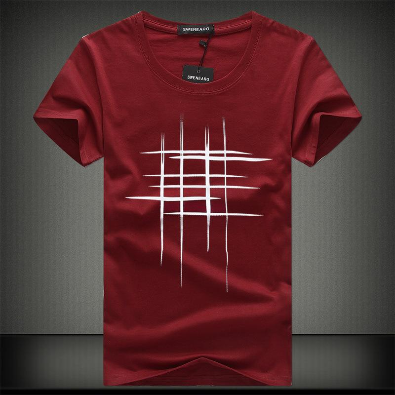 76ce72e12 Simple Creative Design Line Cross cotton T Shirts for Summer in 2019 ...