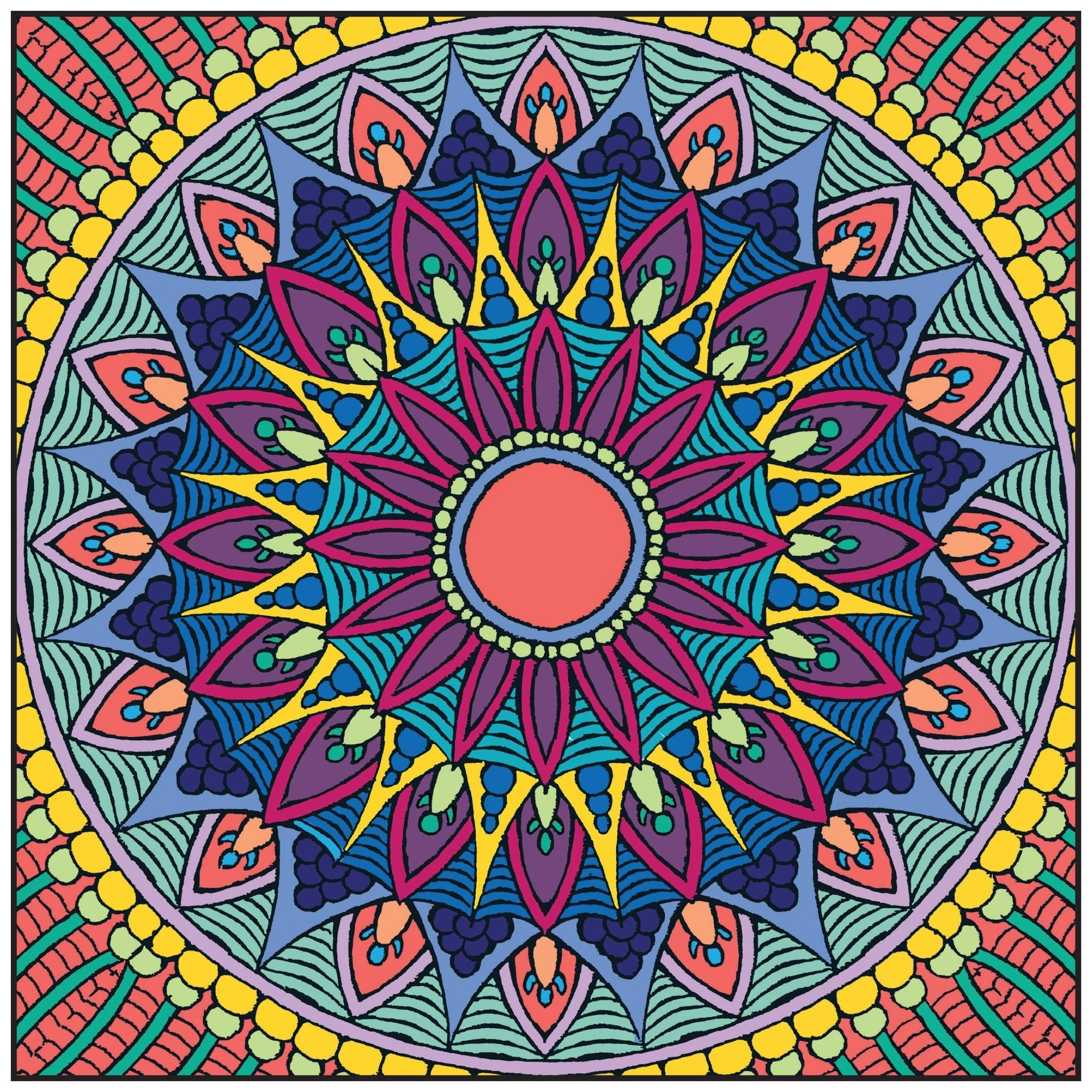 Colored Coloring Pages Shopkins Colouring Pages Mandala Coloring Pages Mandala Coloring