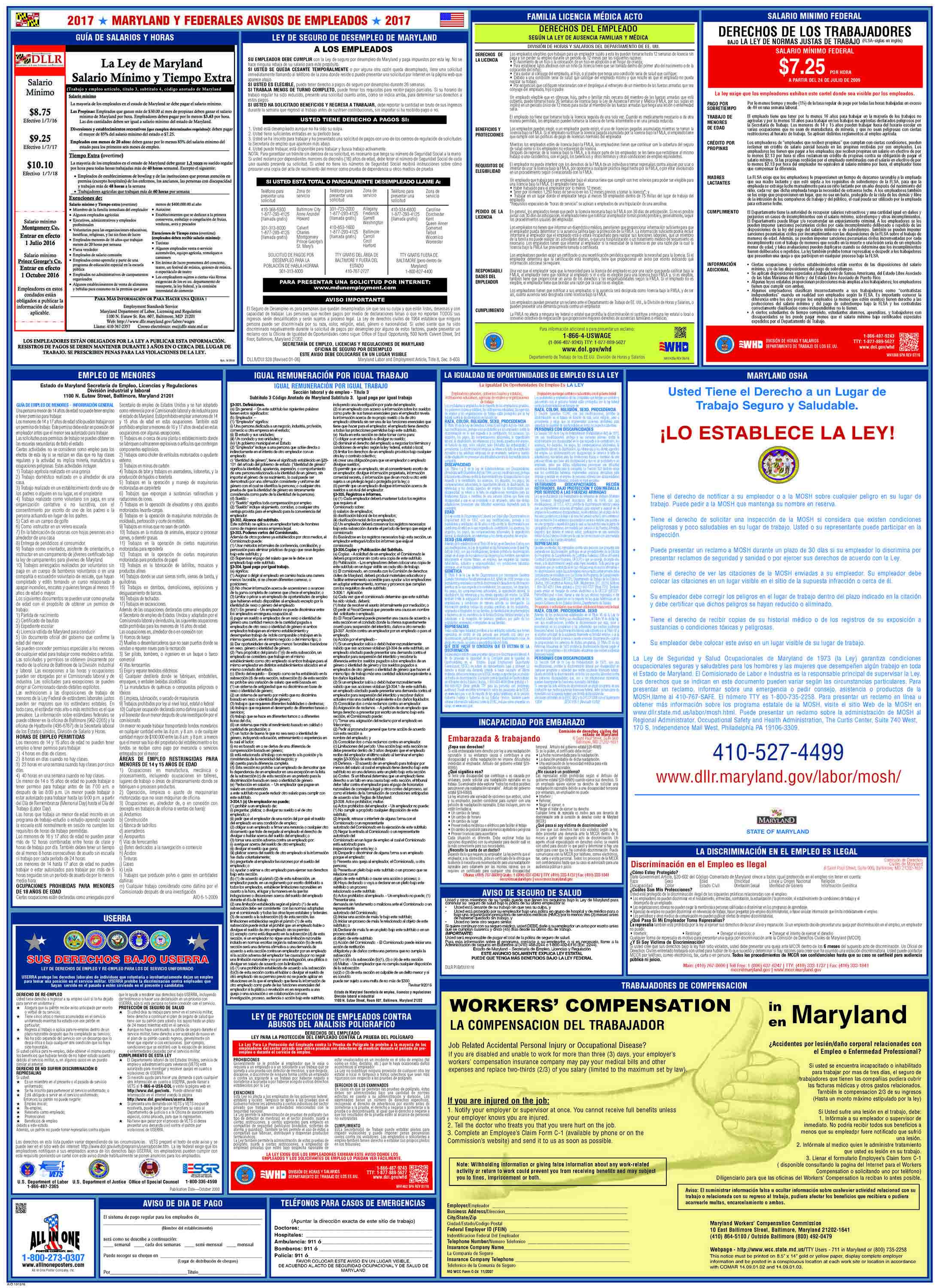 Federal labor law posters all in one free